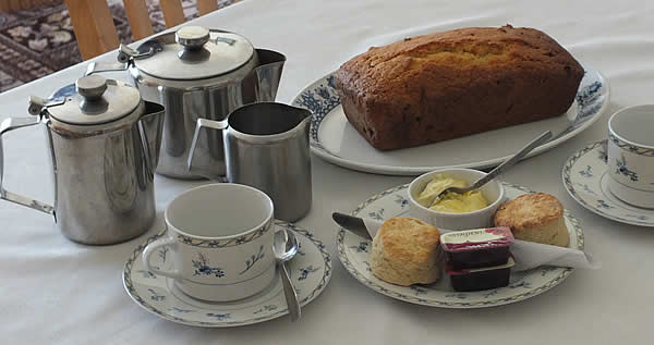A delicious Cornish cream tea or homemade cakes await you on your arrival